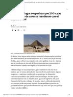 Los arqueólogos sospechan que 200 cajas con objetos de valor se hundieron con el sepulcro real _ La Verdad