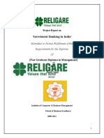 Investment Banking Religare Enterprises Ltd .......... Final Report