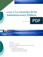 Tema 1 Estrucutras de las Administraciones publicas