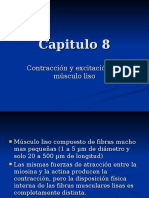 Capitulo 8 - Contracción y excitación del músculo liso