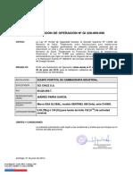 AUTOR. EQUIPO D10905 (GI 228-069-090) - (VTO.JUN.19)