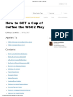 How to GET a Cup of Coffee the WSO2 Way