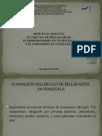 ARTE EN EL SIGLO XX. EL CÍRCULO DE BELLAS ARTES. EL IMPRESIONISMO EN VENEZUELA.  Y EL PAISAJISMO EN VENEZUELA.