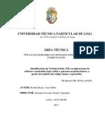 UNIVERSIDAD TÉCNICA PARTICULAR DE LOJA La Universidad Católica de Loja ÁREA TÉCNICA
