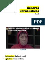 GÊNEROS JORNALÍSTICOS