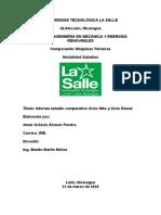 INFORME ESTUDIO COMPARATIVO CICLO OTTO Y CICLO DIESEL