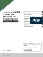 Manual SONY KDK55W657D