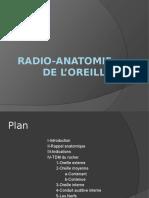 Radio-anatomie de l'oreille