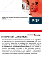 1° PPT INACAP 2020_Presentación Asignatura_Evaluación Lecto-escritura