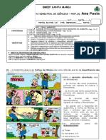 1.ª Atividade Avaliativa Bimestral de Ciências - 6.º Ano - 2012.doc