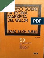 7004. Ensayos Sobre La Teoría Marxista Del Valor. Rubin, Isaak Lllich. Emancipación. Febrero 22 de 2020