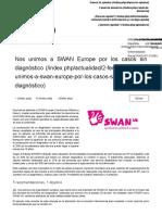 Nos unimos a SWAN Europe por los casos sin diagnóstico