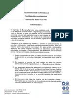 COMUNICADO N°2 PANDEMIA DEL CORONAVIRUS