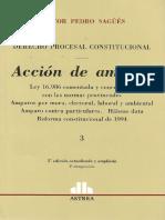 Derecho Procesal Constitucional - Néstor Sagues - Tomo 3 (Amparo)