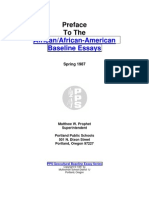 Preface to the African_African-American Baseline Essays
