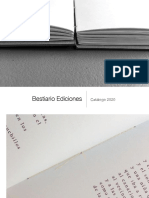 Bestiario Ediciones   catálogo 2020