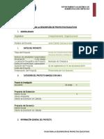 FICHA PARA LA DESCRIPCION DE PROYECTOS COMPORTAMIENTO ORGANIZACIONAL