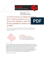 La estructura de la formación general en el currículum básico de los sistemas educativos modernos. una propuesta de encuadramiento teórico-educativo de Pisa