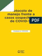 Protocolo coronavirus CABA Version10 16 de marzo 2020 -  8hs