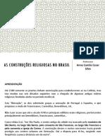 Aula 05_Minas Gerais AS CONSTRUÇÕES RELIGIOSAS NO BRASIL_