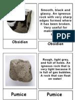 3 Part Cards -Kinds of Rocks