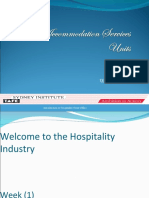 Week (1) Introuduction to Hospitality Industry