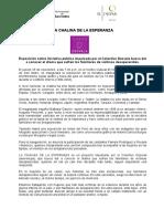 NP Chalina de La Esperanza. Hecha por colectivo Desvela y la Municipalidad de San Isidro