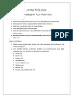 Lembar Kerja Siswa Pengenalan Virus