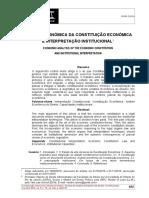 ANÁLISE ECONÔMICA DA CONSTITUIÇÃO ECONÔMICA