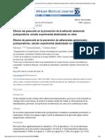 Efectos del parecoxib en la prevención de la adhesión abdominal postoperatoria