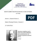 ENSAYO PSICOPATOLOGIA DE LA VIDA COTIDIANA