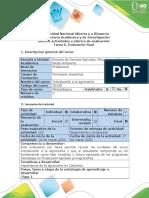 Guía de actividades y rúbrica de evaluación - Tarea 6 - Evaluación final