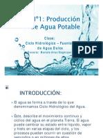 INICIO N°1 - Ciclo Hidrológico y Fuentes de Agua DulcE