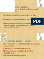 Introduction to Indian Statistical System