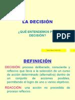 La decisión