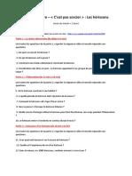 questionnaire herisson