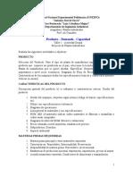 Taller1 - Producto - Demanda - Capacidad SI16