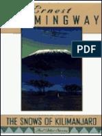 Las nieves del Kilimanjaro - Ernest Hemingway
