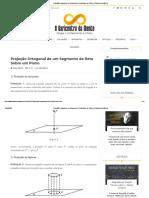 Projeção Ortogonal de um Segmento de Reta Sobre um Plano _ O Baricentro da Mente