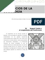 Lectura LOS INICIOS DE LA SOCIOLOGÍA