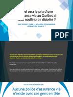 Prime d'assurance vie au Québec