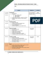 Jadual Program Transisi 2020