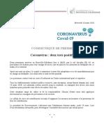 Deux premiers cas de coronavirus en Nouvelle-calédonie