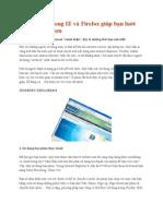 20 phím tắt trong IE và Firefox giúp bạn lướt web