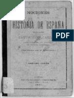 NOCIONES DE HISTORIA DE ESPAÑA - Saturnino Calleja F