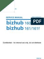 Service Manual Bizhub 160 161f