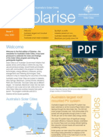 May 2009 Solarrise Newsletter, Australia Solar Cities