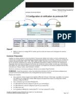 Configuration et vérification du protocole RIP