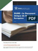 Le Document Unique de Marché Européen (DUME)