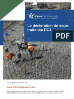 Déclaration de sous-traitance (DC4)